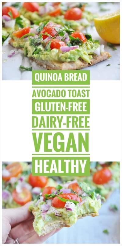 Pin Quinoa Bread Avocado Toast