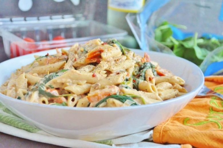 Creamy Spicy Vegan Pasta