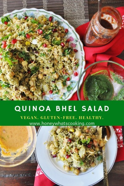 Quinoa Bhel Salad - vegan, gluten-free, healthy
