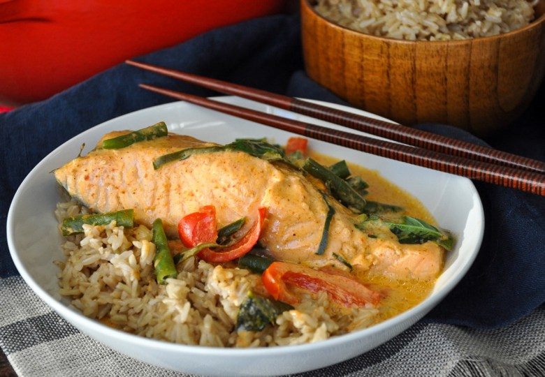 Salmon Panang Curry (paleo, dairy-free, gluten-free)