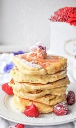 Rose Cardamom Coconut Pancakes