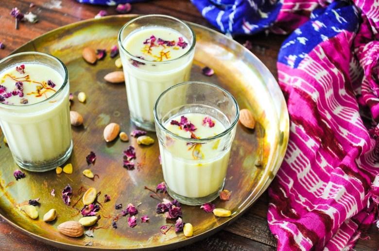 Thandai (vegan, gluten-free, healthy, paleo option)