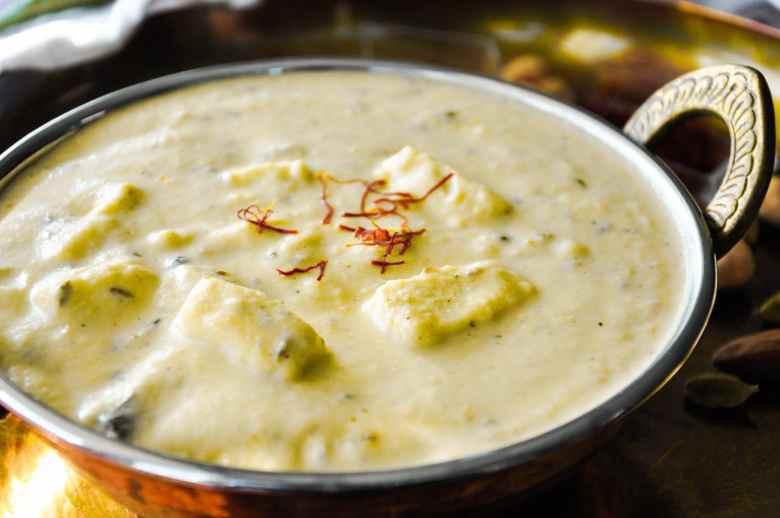 Mughlai Shahi Paneer (no cream, no ghee, no butter, gluten-free)