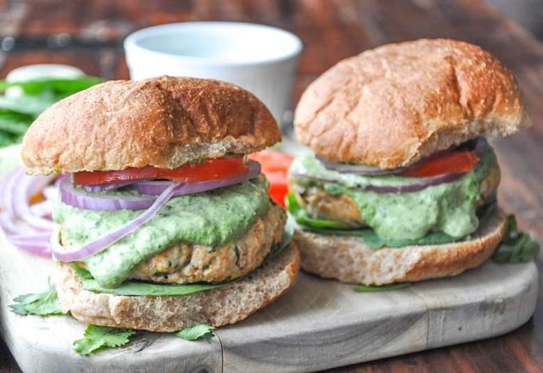 Chicken Kebab Burger (healthy, gluten-free option)