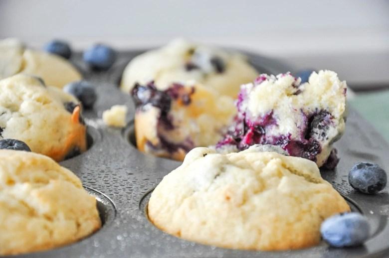Blueberry Muffins (10 Ingredients, GF option)