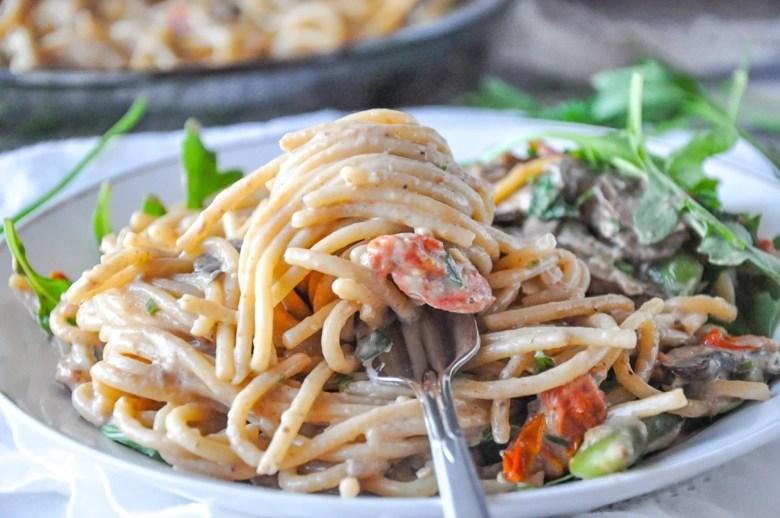 Mushroom Spaghetti (vegetarian, GF option)