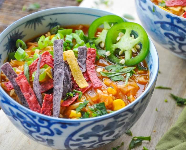 Mexican Ramen Noodles (vegan)