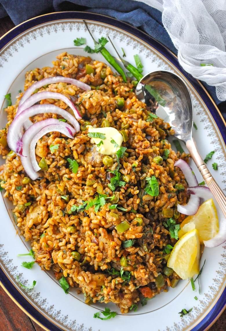 Tawa Pulao (vegetarian, gluten-free)