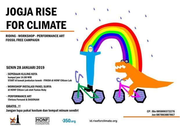 Jogja rise for climate poster