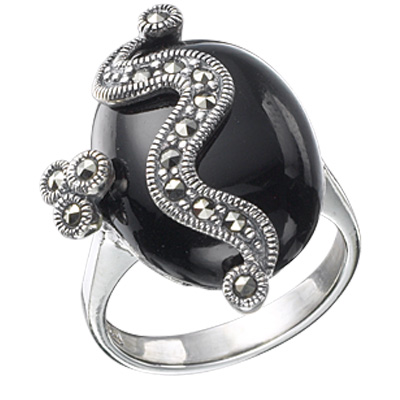 Marcasite jewelry ring HR0119 1