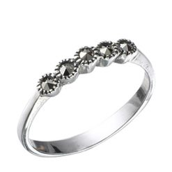 Marcasite jewelry ring HR0351 1
