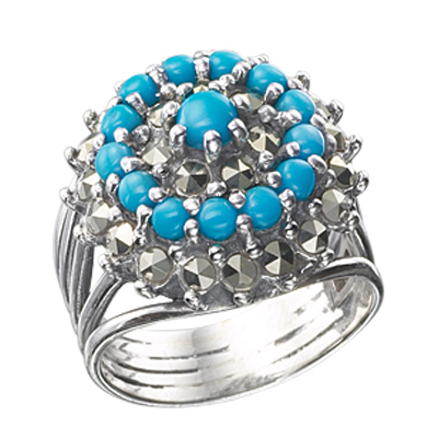 Marcasite jewelry ring HR0423 1