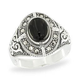 Marcasite jewelry ring HR1059 1
