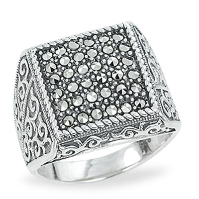 Marcasite jewelry ring HR1209 1