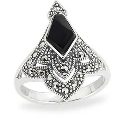 Marcasite jewelry ring HR1249 1