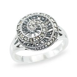 Marcasite jewelry ring HR1303 1
