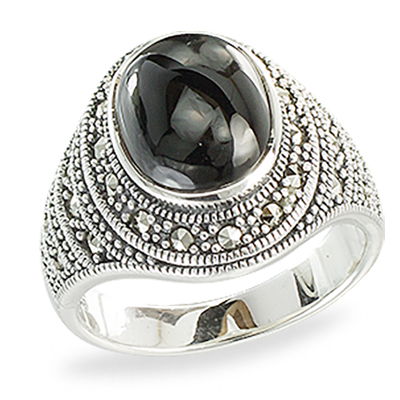 Marcasite jewelry ring HR1374 1
