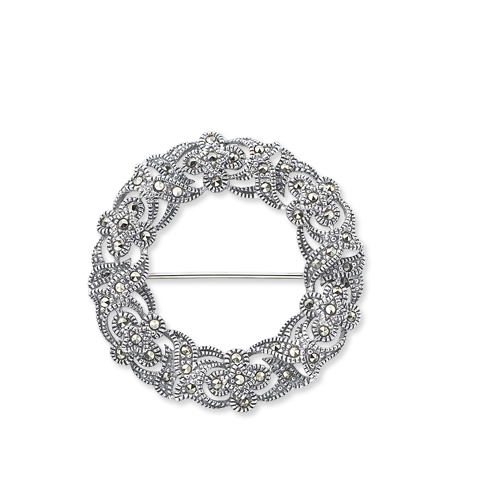 marcasite brooch HB0180 1
