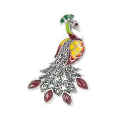 marcasite brooch HB0637 RD 1