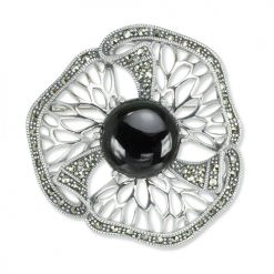 marcasite brooch HB0718 1