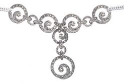 Marcasite necklace NE0443 1