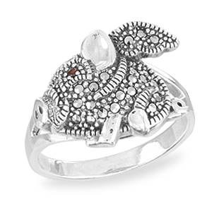 Marcasite jewelry ring HR1565 002