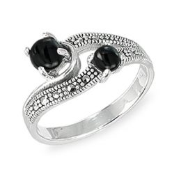Marcasite jewelry ring HR1571 001