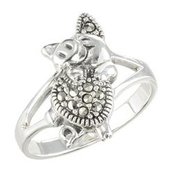 Marcasite jewelry ring HR1572 001