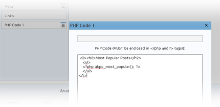 phpwidget Execute PHP in WordPress post, page and Widget Sidebar