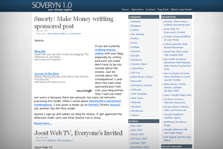 Wordpress Theme - Soveryn 1.0
