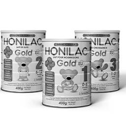 Honilac Infant Formula Black and White Logo 256