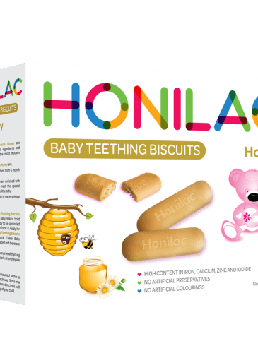 Honey Honilac Baby Teething Biscuits