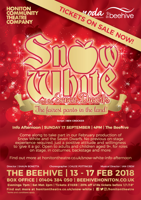 Snow White Info Afternoon - Honiton Community Theatre Company