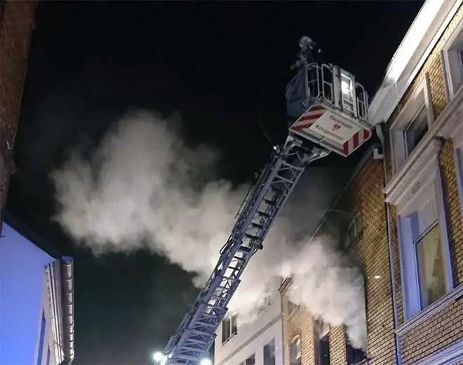 Erneut Übung der Feuerwehr auf dem Gelände von St. Josef