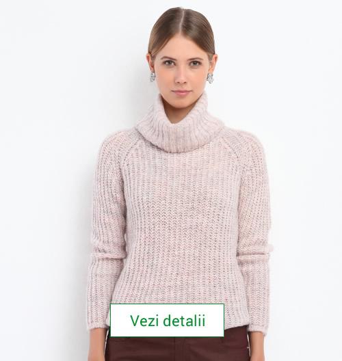 Model de pulover tricotat marca Top Secret roz