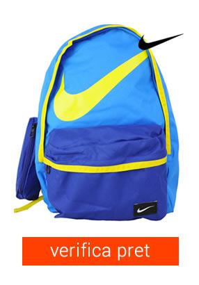 ghiozdan Nike albastru cu penar