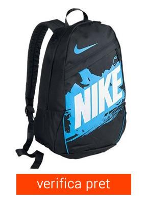 ghiozdan Nike negru cu albastru
