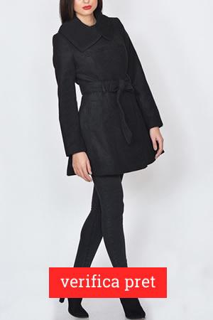 Palton negru sub 100 de lei