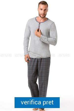 pijama de barbati cu guler rotund