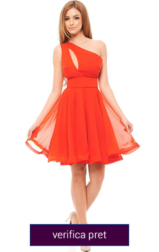 rochie scurta domnisoara de onoare culoarea rosie