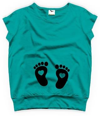 tricouri pentru gravide turcoaz