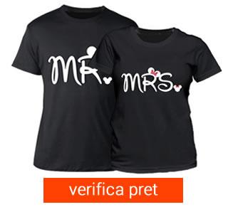 Set tricou cuplu - mr si mrs