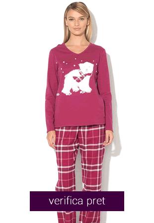Pijama dama cu urs polar