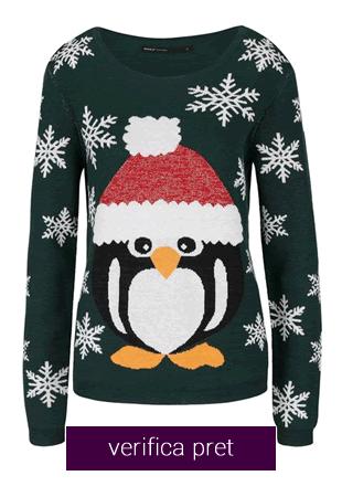 Pulover cu Pinguin