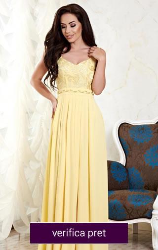 rochie galbena domnisoare de onoare