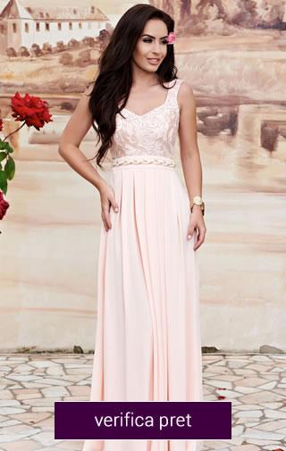 rochie roz domnisoare de onoare