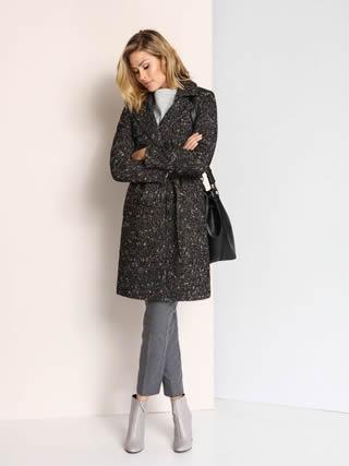 palton de dama gri