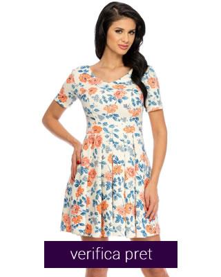 rochie de vara cu model inflorat