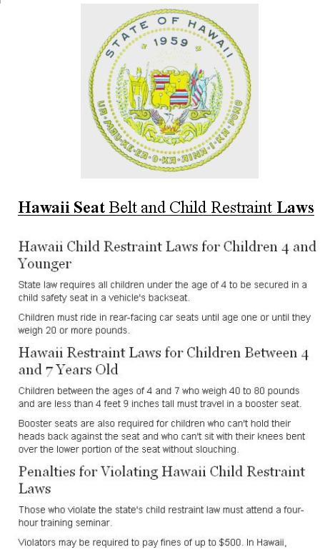 Booster Seat Laws Hawaii Brokeasshome Com