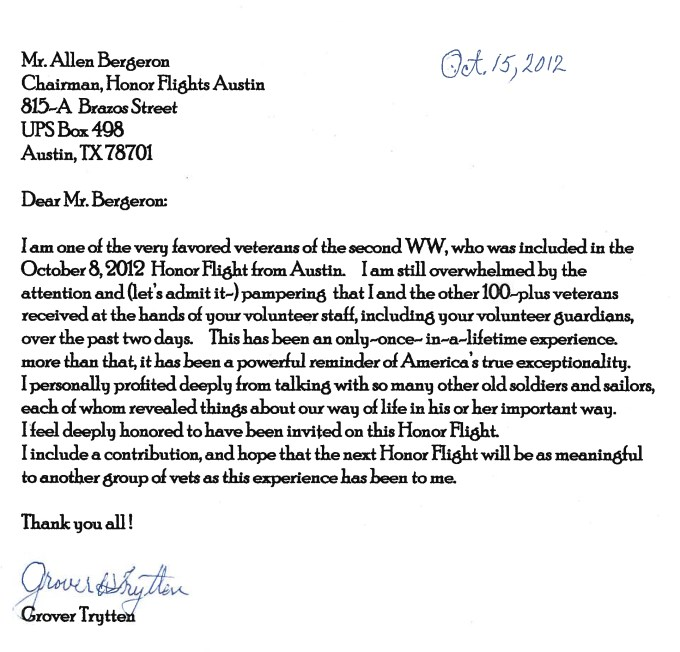 Thank you letter to a veteran example textpoems thank you from our wwii veterans honor flight austin expocarfo Choice Image